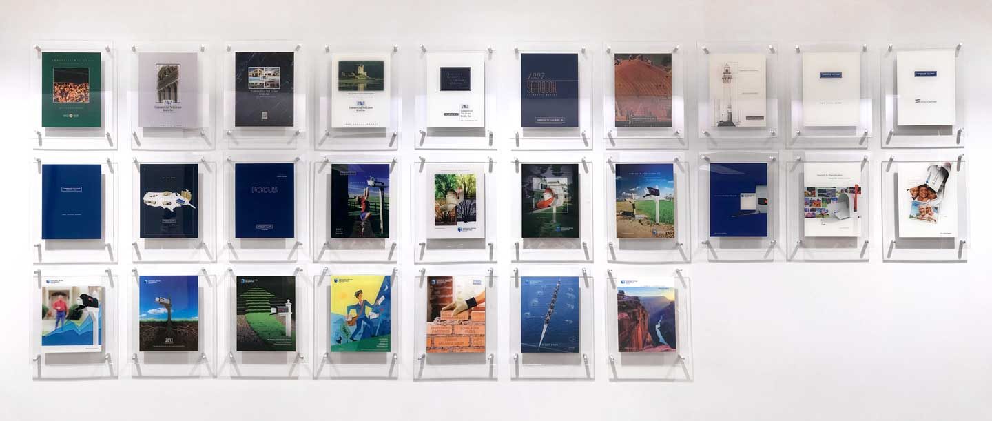 NNN Annual Report wall display